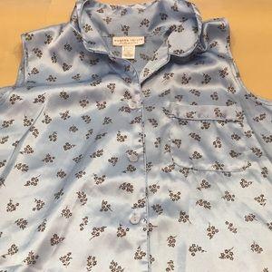 Morgan Taylor intimates pajama top blue
